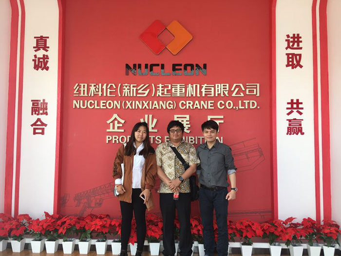 Welcome Indonesia Client Visit Our Nucleon Crane Plant